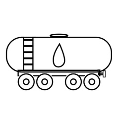 Waggon for gasoline icon outline style vector
