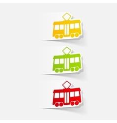 Realistic design element tram vector