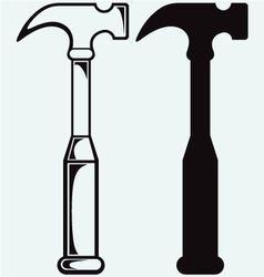 Metal hammer symbol vector image