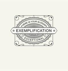 Modern emblem badge label monogram template vector