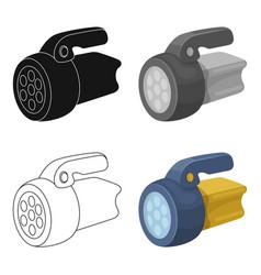 Flashlighttent single icon in cartoon style vector