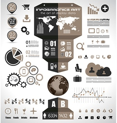 Infographic elements - set of paper tags vector