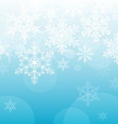 Light Blue Snowflake Background vector image