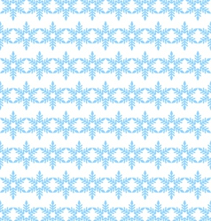 Seamless background of blue snowflakes vector