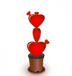 heart a cactus vector image
