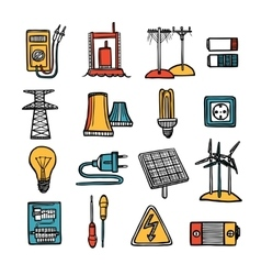 Power And Energy Icon Set vector image