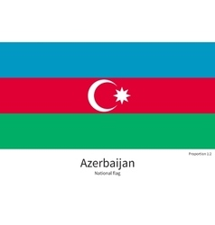 National flag of azerbaijan with correct vector