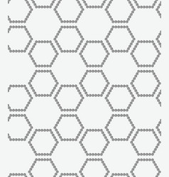Perforated paper with hexagons forming grid vector