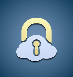 Icon cloud data storage vector