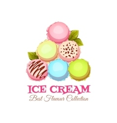 Ice cream pyramid banner with sample text vector
