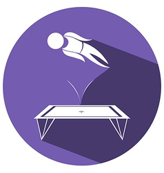 Sport icon for gymnastics trampoline vector