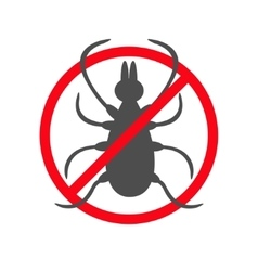 Tick insect silhouette mite deer big ticks icon vector