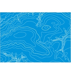 Abstract topographic map in blue colors vector image