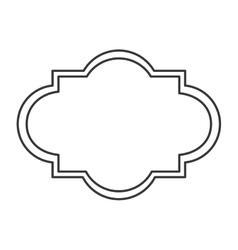 art deco style badge icon vector image