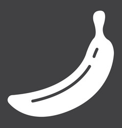 Banana solid icon fruit and diet graphics vector