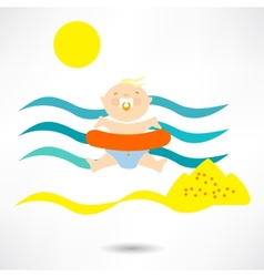 Beach child vector