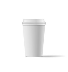 Blank coffee paper cup realistic mockup vector