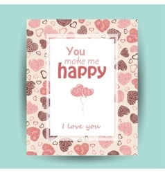 Card with love words vector
