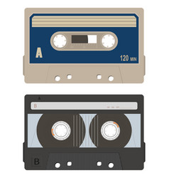 Cassette tape collection vector