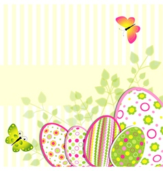 Colorful Easter holiday greeting card vector image vector image