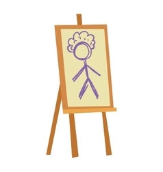 Easel art board vector