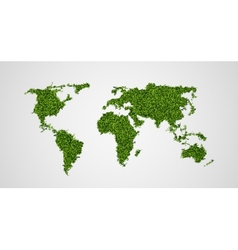 ecological concept of the green world map vector image vector image