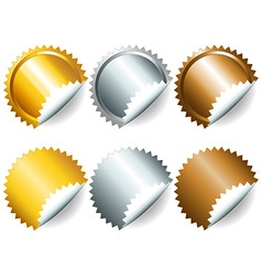 Games medals or labels-set2 vector image vector image