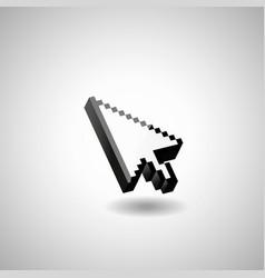glossy mouse arrow cursor vector image vector image