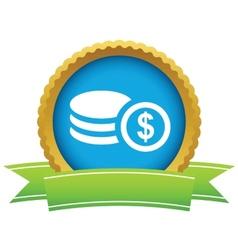 Gold money logo vector image