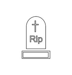 Gravestone icon outline style vector