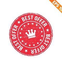 Grunge best offer rubber stamp - - EPS10 vector image vector image
