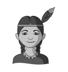 indianhuman race single icon in monochrome style vector image