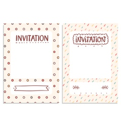 Invitations templates vector image vector image