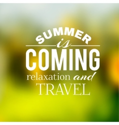 Label of the summer travel on a green background vector image vector image