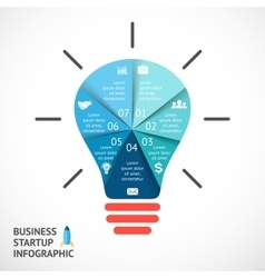light buble infographic Template for vector image vector image