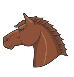 Logo horse vector