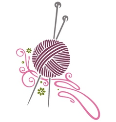 Needlework knitting vector