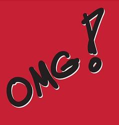 OMG 1 vector image