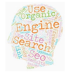 Organic seo text background wordcloud concept vector