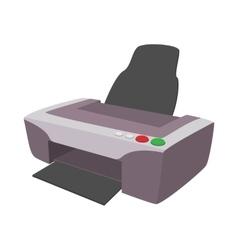 Printer icon cartoon style vector