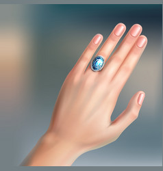 Ring on finger vector