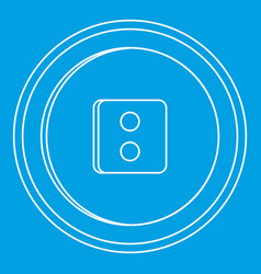 Round button icon outline style vector