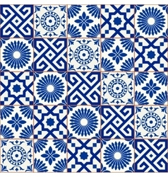 Samless pattern moroccan portuguese tiles vector