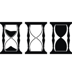 set of sand hourglass vector image vector image