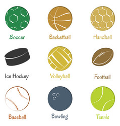 Set of sports equipments vector