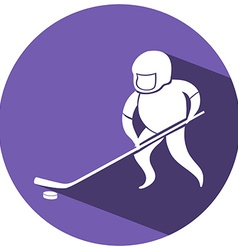 Sport icon design for ice hockey vector