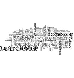Why most leadership development efforts fail text vector