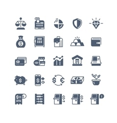 Banking finance money cash icons vector image