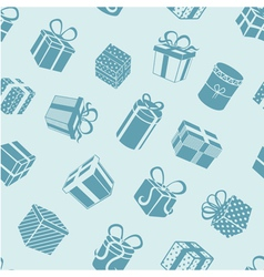 Silhouette gifts pattern vector