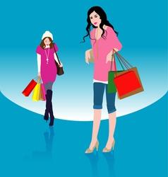 Woman Shopping1 vector image